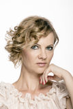 Middle-aged 40 year old woman glamor portrait Royalty Free Stock Photos