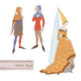 Middle Ages. And archaic costume Stock Image