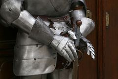 Middle Ages. Armor of the Middle Knight.  royalty free stock image