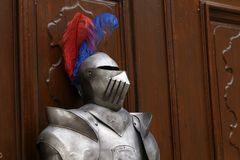 Middle Ages. Armor of the Middle Knight.  stock photo