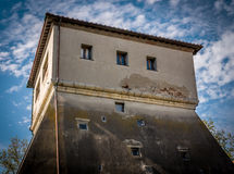 Middle-ages Defence tower in a Tuscan village Royalty Free Stock Photos