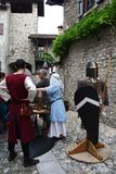 The Middle Ages in Erba medieval market - district of Villincino Sunday, May 13, 2018. The Middle Ages in Erba Italy medieval market - district of Villincino Royalty Free Stock Image