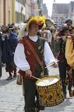 """Middle ages festival. OETTINGEN, BAVARIA, GERMANY - MAY 16: The 25th jubilee of middle ages festival, named """"Historischer Markt"""", in the bavarian royalty free stock image"""