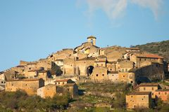 Middle Ages italian village royalty free stock image
