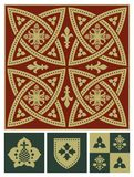 Middle ages ornament set Royalty Free Stock Photos