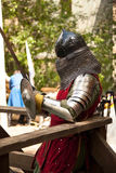 Middle ages period costume at knight tournament royalty free stock images