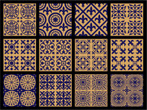 Middle Ages Seamless Patterns Stock Image