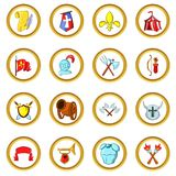 The middle ages vector set, cartoon style Stock Photo