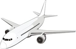 Middle aircraft. Middle passenger plane for internal airway Stock Photography