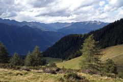 middle of the Alps Stock Photography