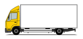 Middle box truck Stock Photography