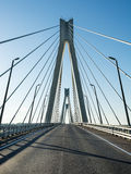 In the middle of the bridge Royalty Free Stock Photography