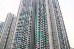 Middle class apartment at Nam Cheong  hk Royalty Free Stock Images