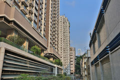 middle class District at  Sai Wan 2017 Royalty Free Stock Image