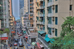 middle class District at  Sai Wan 2017 Royalty Free Stock Photo