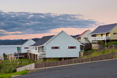 Middle Class Kiwi Homes Royalty Free Stock Photography