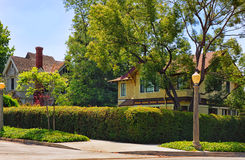 Middle-class Neighborhood. In Southern California Royalty Free Stock Photo