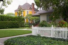 Middle Class Neighborhood. Homes and yards in American middle-class neighborhood Stock Photography