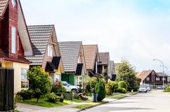 Middle class neighborhood Stock Images