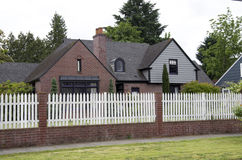 Middle class old house america Royalty Free Stock Image