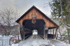 Middle Covered Bridge - Vermont Stock Photo