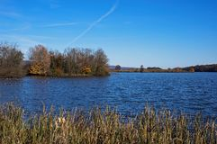 Middle Creek Wildlife Management Area on an autumn day. royalty free stock images