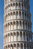 Middle detail of Leaning tower of Pisa, Italy Stock Images