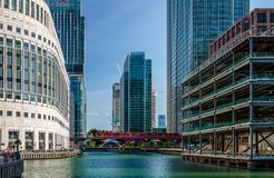 Middle Dock, Canary Wharf royalty free stock photo