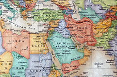 Middle east. Map of middle east libya, egypt, yemen royalty free stock images