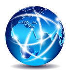 Middle East, Africa and Europe communications Royalty Free Stock Image