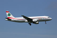 Middle East Airlines MEA Airbus A320 airplane Royalty Free Stock Photo