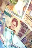 Middle East Banknotes royalty free stock image