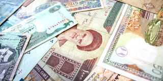 Middle East Banknotes Royalty Free Stock Photos