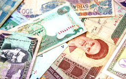 Middle East Banknotes stock photo