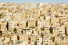 Middle east buildings and houses in Amman Royalty Free Stock Photo