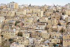 Middle east buildings and houses in Amman Royalty Free Stock Images