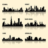 Middle East cities vector set Royalty Free Stock Images