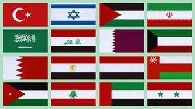 Middle East countries Royalty Free Stock Photos