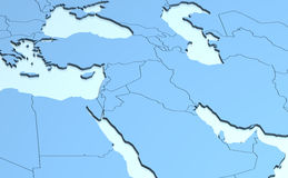 Middle East 3D royalty free illustration