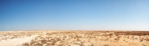 Middle-East desert panorama Royalty Free Stock Photo