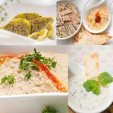 Middle east food collage Stock Photo