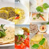 Middle east food collage Royalty Free Stock Image
