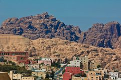 Jordanian village to Petra Stock Photo