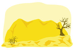 Middle east landscape cartoon illustration Stock Photos
