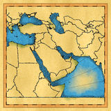 Middle East map Royalty Free Stock Images