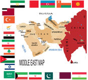 Middle East map . Stock Photography