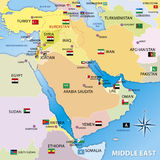 Middle east map, graphic elaboration Stock Photos