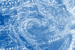 Middle East Map With Swirl Design Royalty Free Stock Images