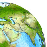 Middle East on model of Earth Royalty Free Stock Photo