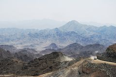 Middle East mountain road stock image